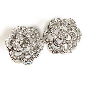 Rhinestone Floral Earrings